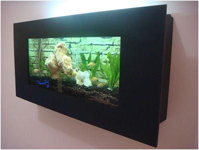 Aquarium Dinding Unik