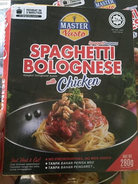 Spageti Segera Master Pasto, Spageti Bolognese Ayam, Spageti Master Pasto, Master Pasto, Instant Spaghetti, Spageti Segera, Spageti Bolognese