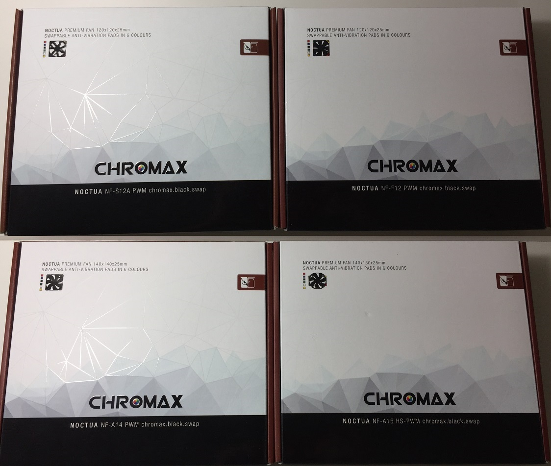 Unboxing and Review of Noctua Chromax black swap Fans (NF-F12, NF