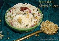 images of Sprouted Methi Pulao / Vendhaya Pulao Recipe / Vendaya Sadam / Fenugreek Pulao