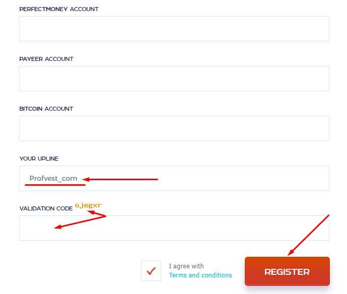 Регистрация в Crypto Trader 3