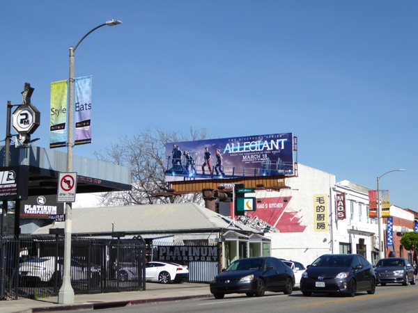 Allegiant movie billboard
