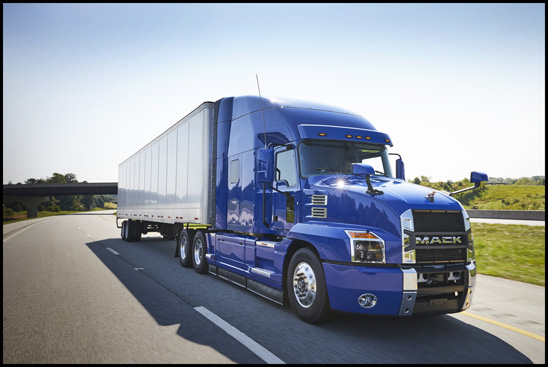 Mack Anthem with new extended chassis fairings