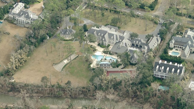 Another angle of the back of the mega mansion.