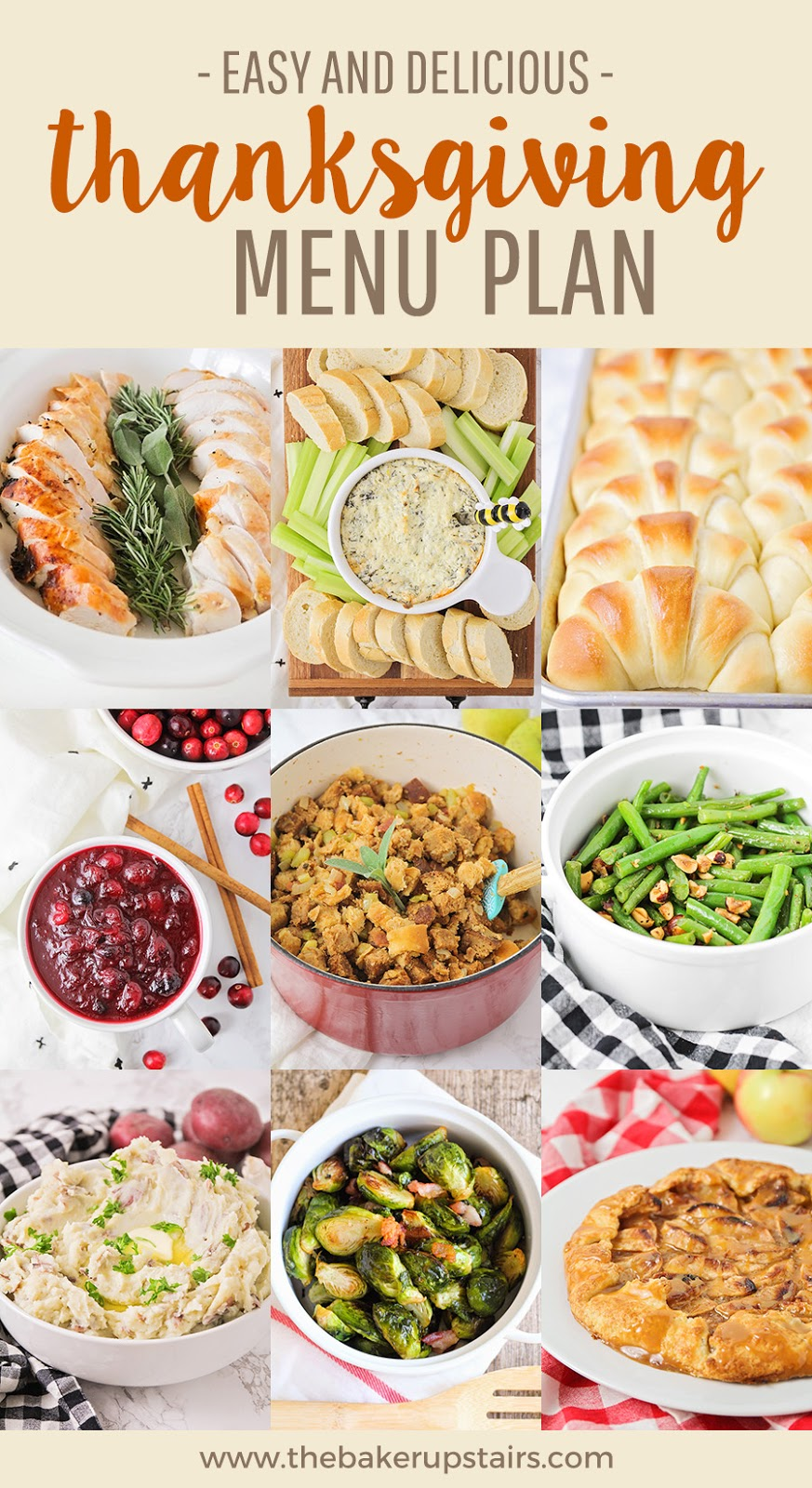 This easy and delicious Thanksgiving menu plan has all the best recipes for a tasty holiday!