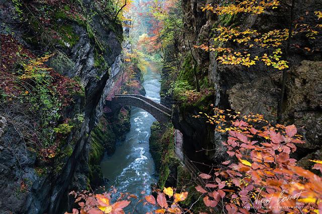 Bridge Gorge De L'areuse Svizzera