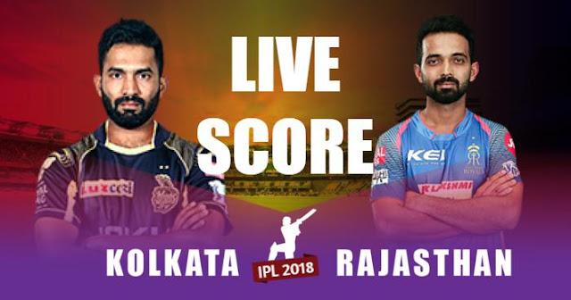 IPL 2018 Match 49 KKR vs RR Live Score and Full Scorecard