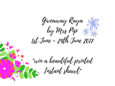 . Giveaway Raya by Mrs Pip .