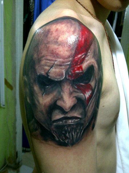 Tatto Picture Kratos Tattoo God Of War Tattoo