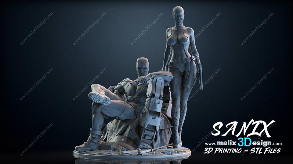 DEADPOOL & Lady DEADPOOL - 3D Printing STL files