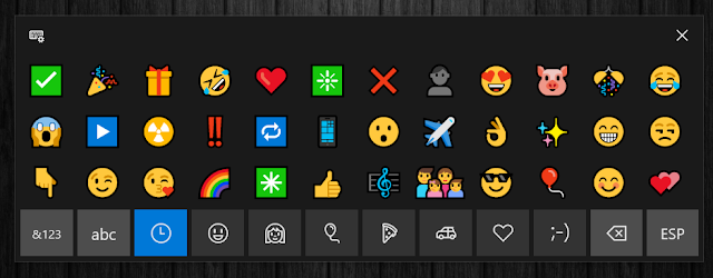 teclado de emoji en windows 10