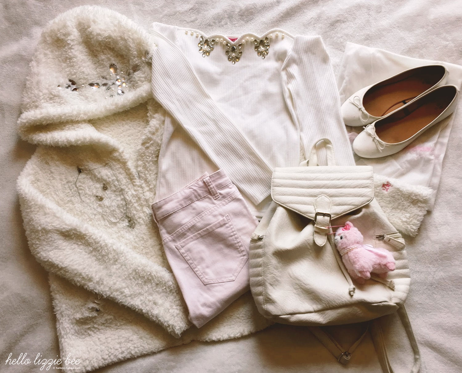 cute casual pink elements