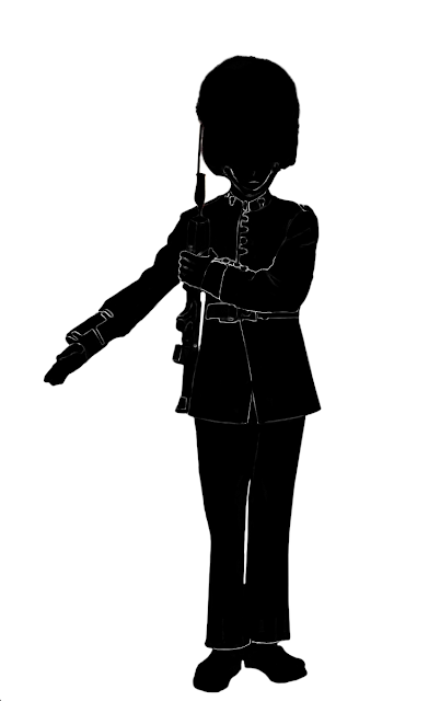 queen's guard silhouette