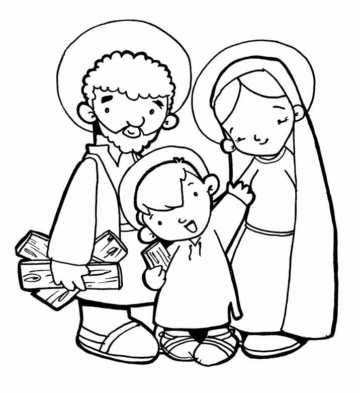 Dibujos para catequesis la sagrada familia de jes s mar a y jos - Divinos pucheros maria jose ...