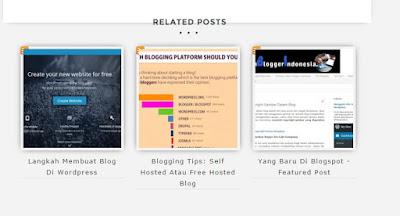 menampilkan related post di bawah postingan di blogspot