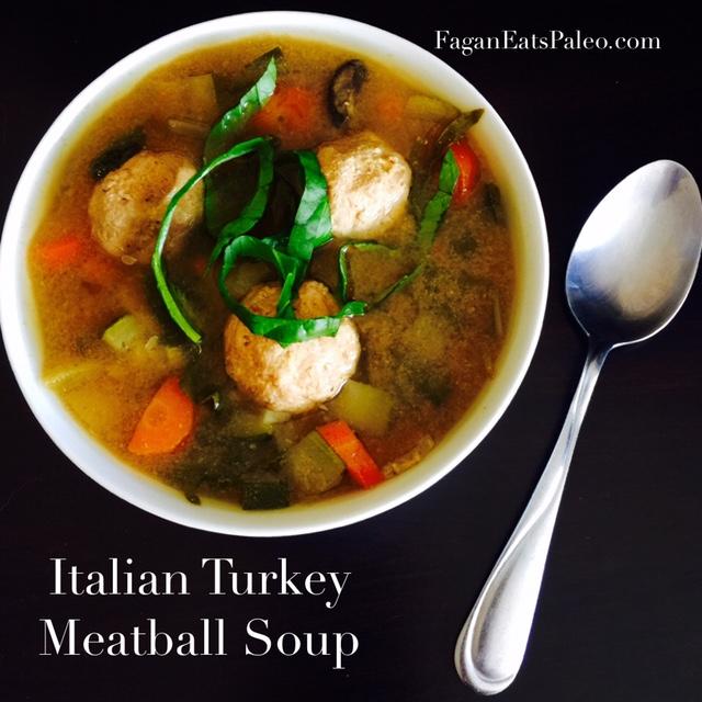Italian Turkey Meatball Crock Pot Soup