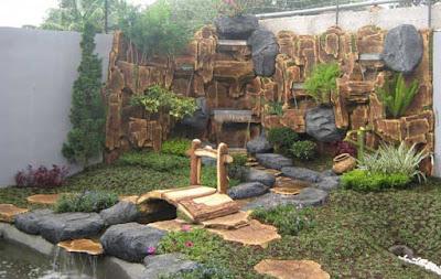gambar taman   kolam hias   relief   jual tanaman hias