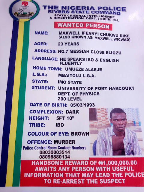 The Ritual Killer Suspect In Rivers State, Ifeanyi Dike