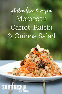 Moroccan Carrot, Raisin and Quinoa Salad Recipe
