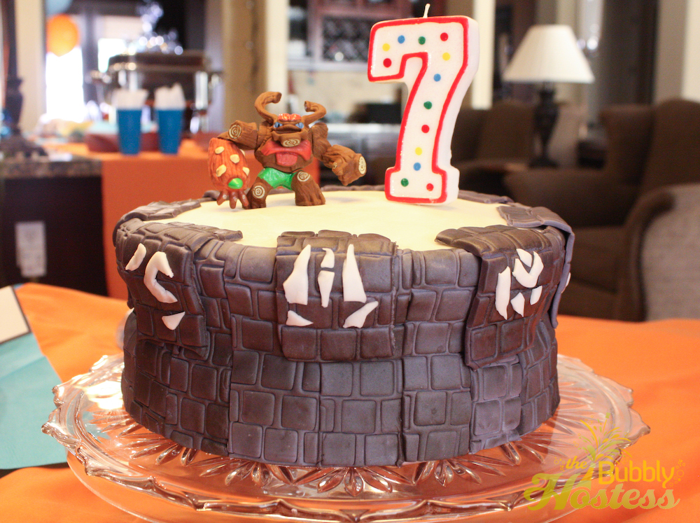 How To Make A Skylanders Portal Birthday Cake