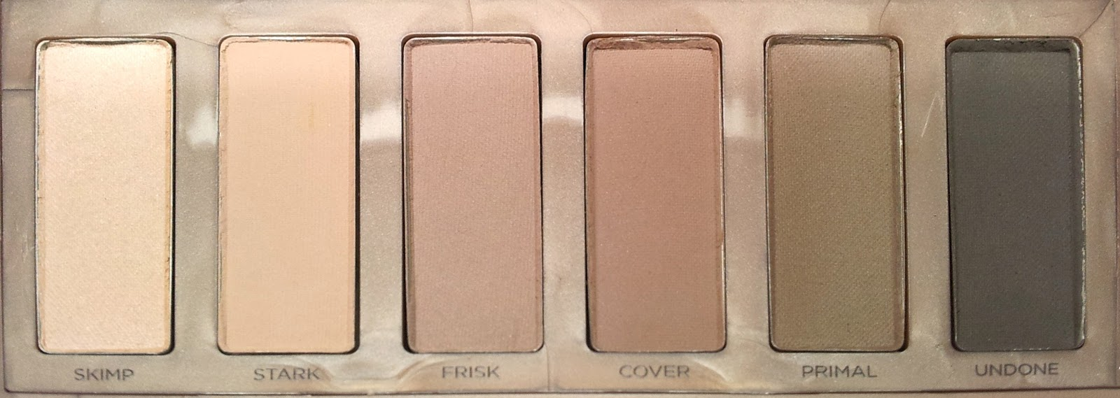 Urban Decay Naked 2 Basics Eyeshadow Palette Farben