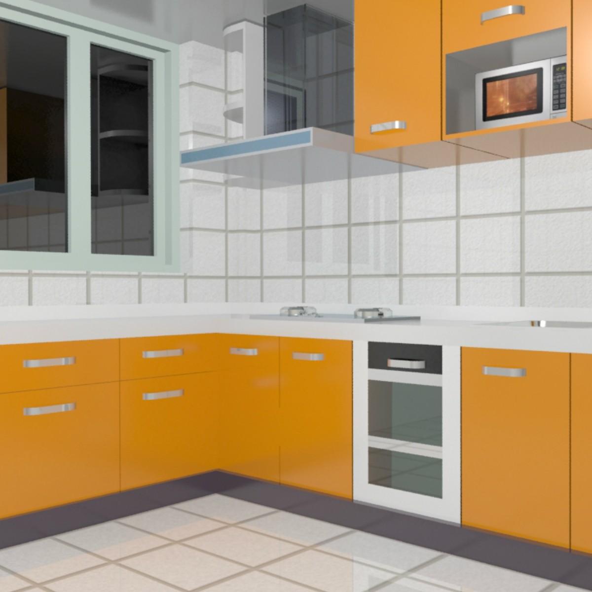 Foundation Dezin & Decor...: 3D Kitchen Model Design. on Model Kitchen Design  id=99181