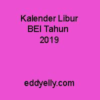 Kalender Libur BEI Tahun 2019