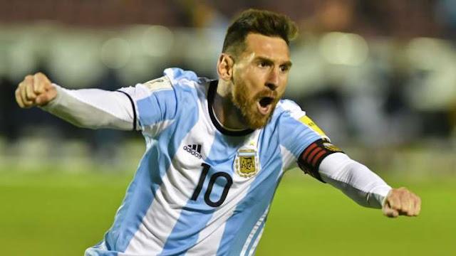 Messi, the Argentine footballer