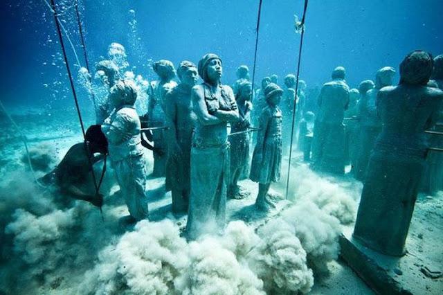 Sculpture Park Cancun penemuan ratusan patung di dalam laut