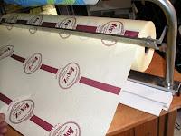 rollo de papel impreso