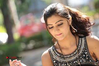 Actress Poojitha Pallavi Naidu Stills in Black Short Dress at Inkenti Nuvve Cheppu Movie Platinum Disc Function  0287.JPG