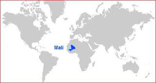 Gambar Peta letak Mali