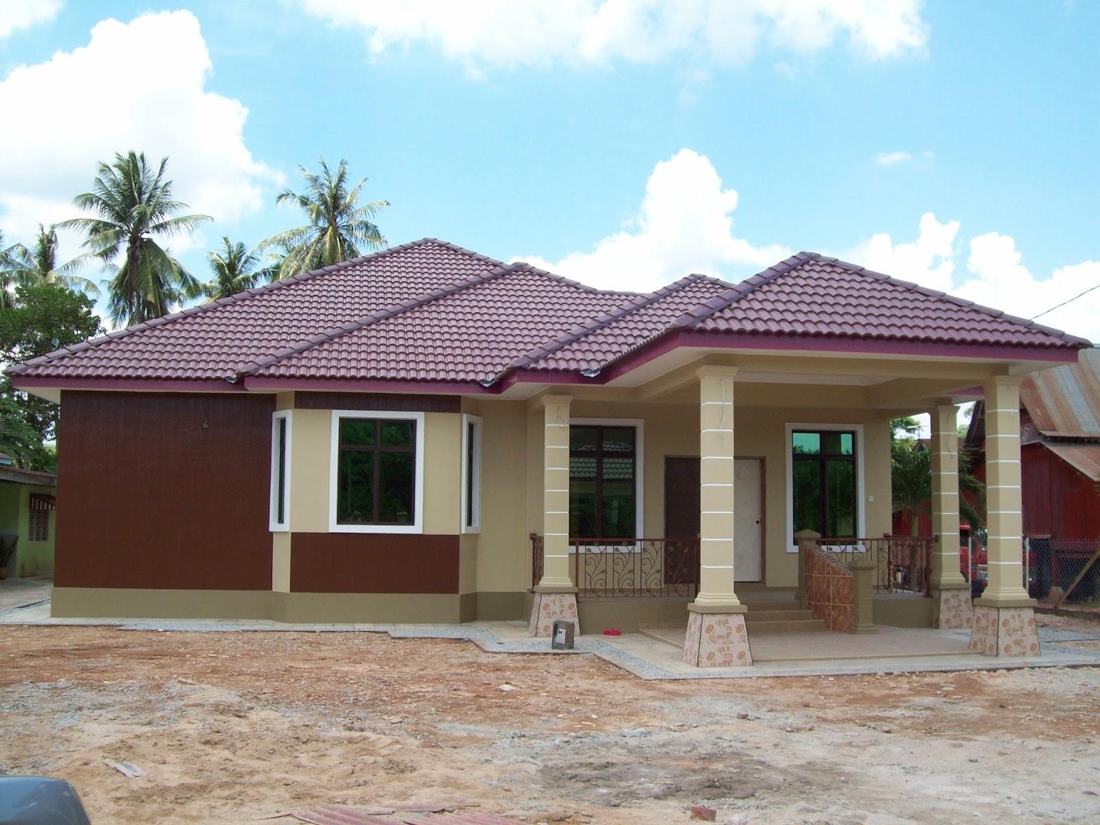 Rumah Banglo Satu Tingkat Di Serkam Pantai