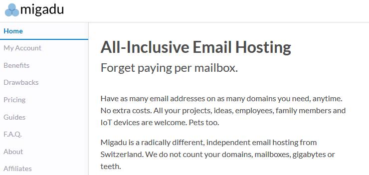 Migadu email hosting service