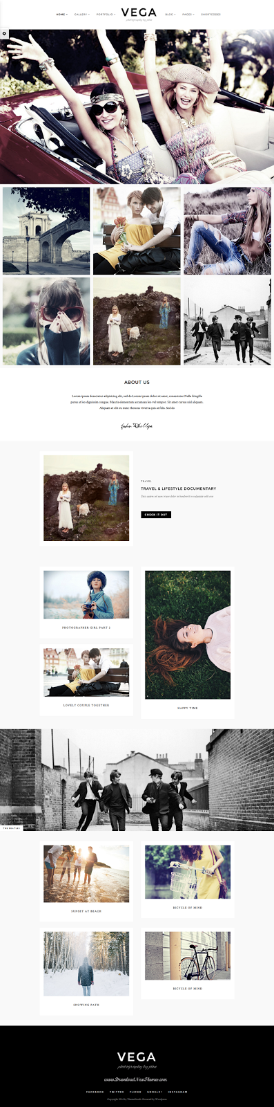 Responsive Theme WordPress Photographer