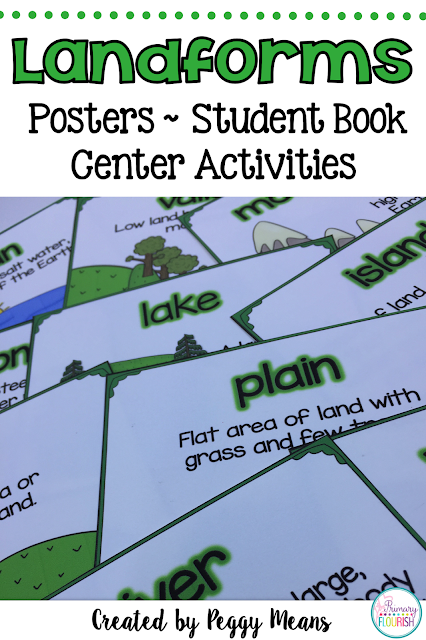 This is a great pack to teach landforms to your students. The little book is in a riddle format so it will require your students to use critical thinking to solve. However, there are the Anchor Charts and Small Picture Cards to scaffold for the successful learning for all students.