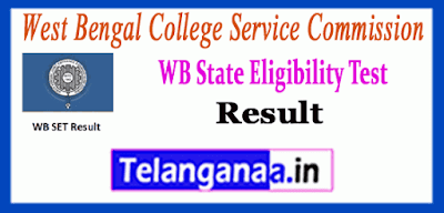 West Bengal State Eligibility Test Result