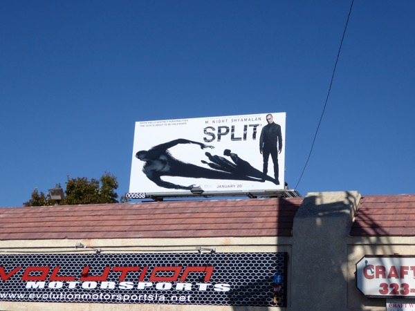 Split film billboard