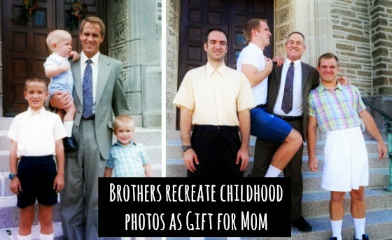 Watch Brothers Recreate their Childhood Photos as Christmas gift for Mom via geniushowto.blogspot.com amazing photo galleries pic 1