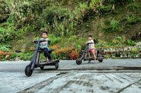 Local Ifugao wooden scooter kids