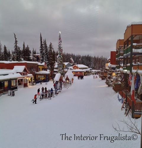 A majestic view of Silver Star Ski Resort Village in British Columbia