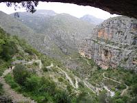Escales dels moros al Barranc de l'Infern