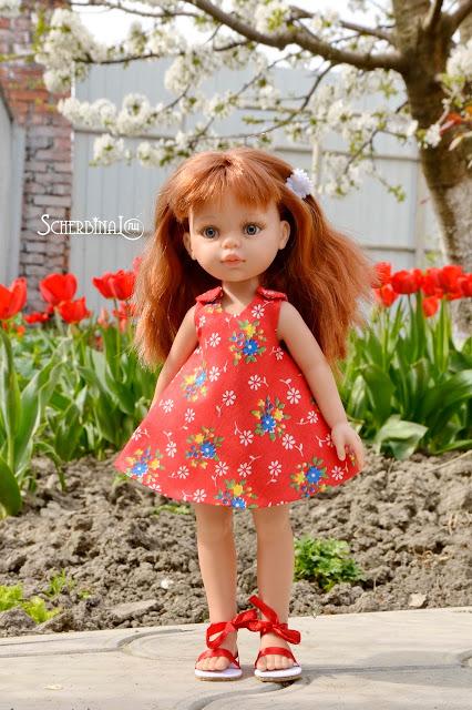 сарафан для куклы, паола рейна, paola reina
