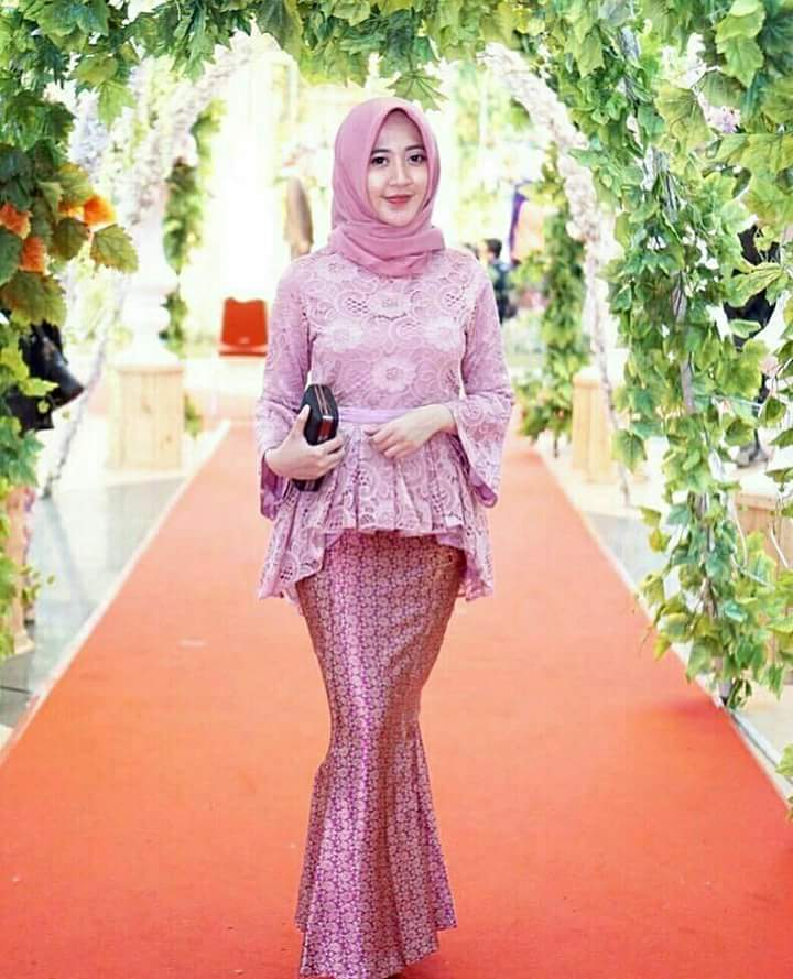Hijab Outfit Of The Day 10 Model Baju Brokat  Terbaru