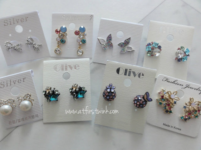 Korean earrings from Gmarket