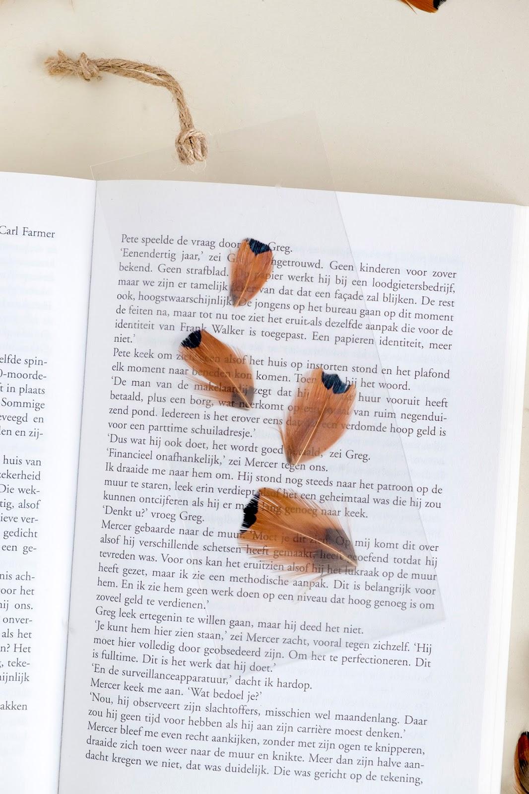 Diy Boekenlegger Zelf Maken Met Veren Cadeau Idee Elsarblog