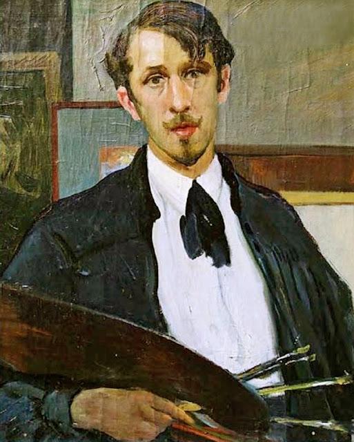 Guido Caprotti, Self Portrait, Portraits of Painters, Fine arts, Portraits of painters blog, Paintings of Guido Caprotti, Painter Guido, Guido Caprotti Pacchetti