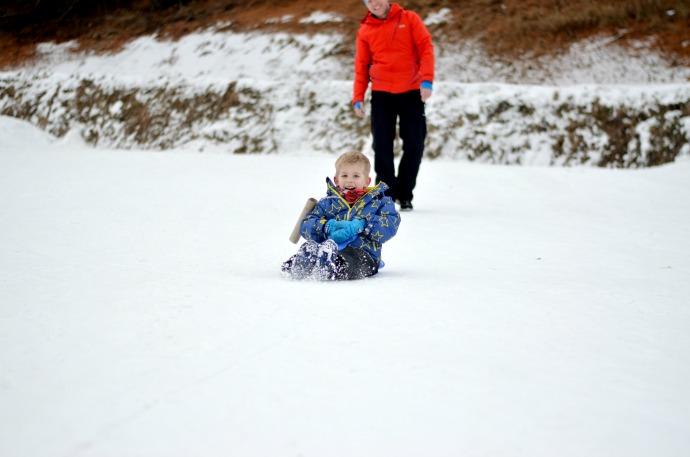 sledging, family ski holiday, snowbizz