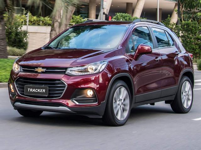 Chevrolet Tracker 2017 - vendas