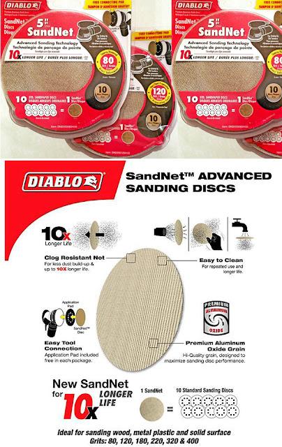 DIABLO Tools sandnet sanding discs
